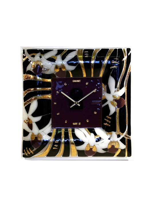 Wall clock Orchids